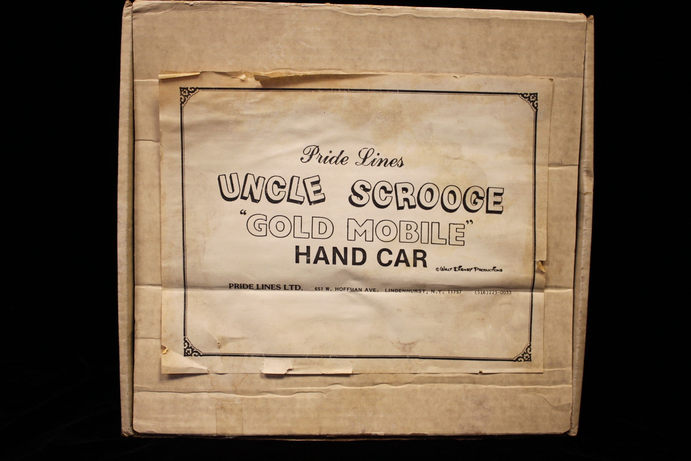 Uncle Scrooge Gold Mobile Hand Car - 1496