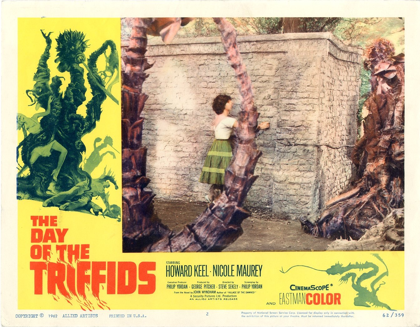 Day Of The Triffids  1962   8 Lobby Card Set - 501