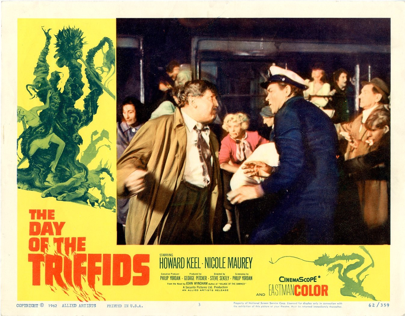 Day Of The Triffids  1962   8 Lobby Card Set - 502