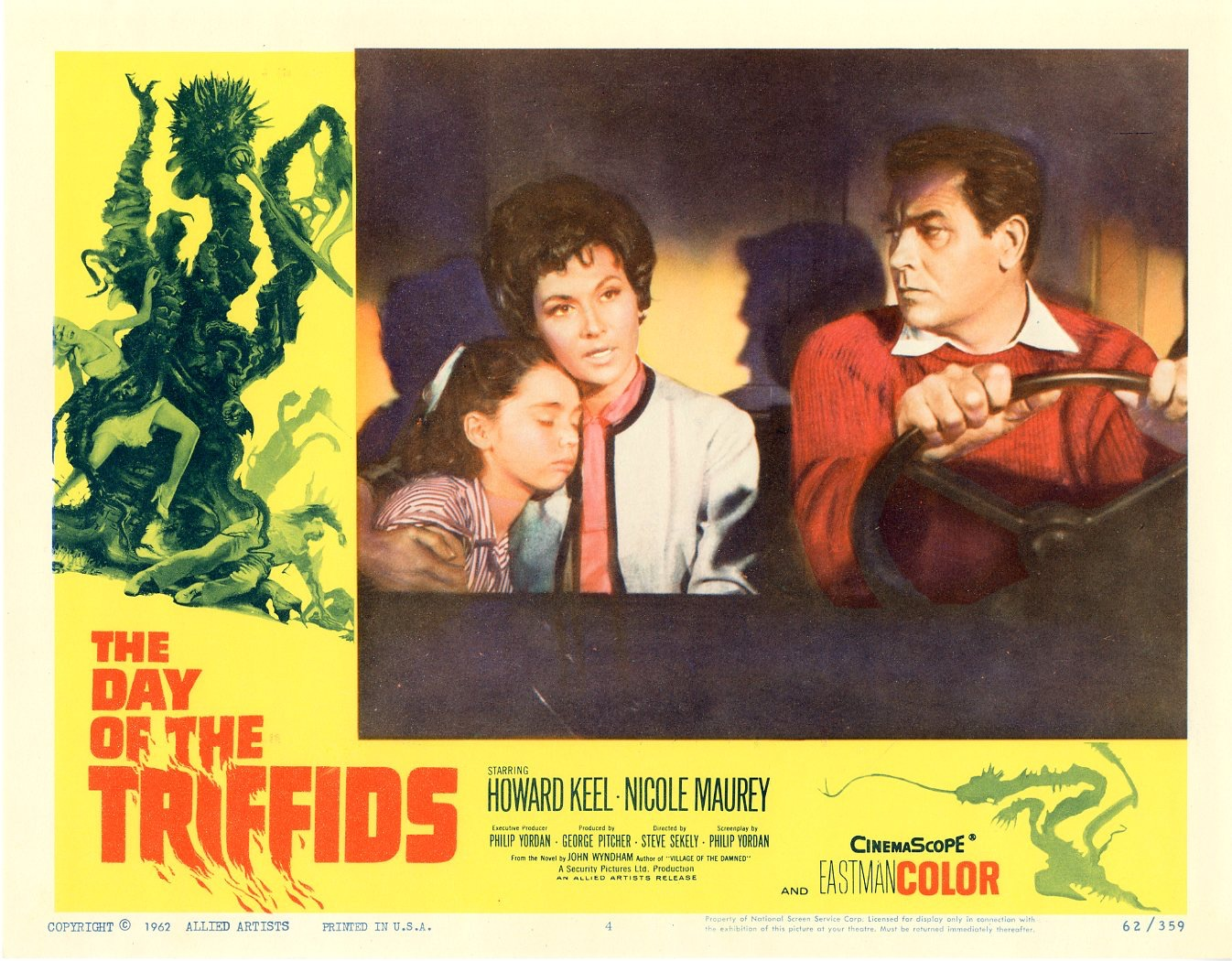 Day Of The Triffids  1962   8 Lobby Card Set - 503