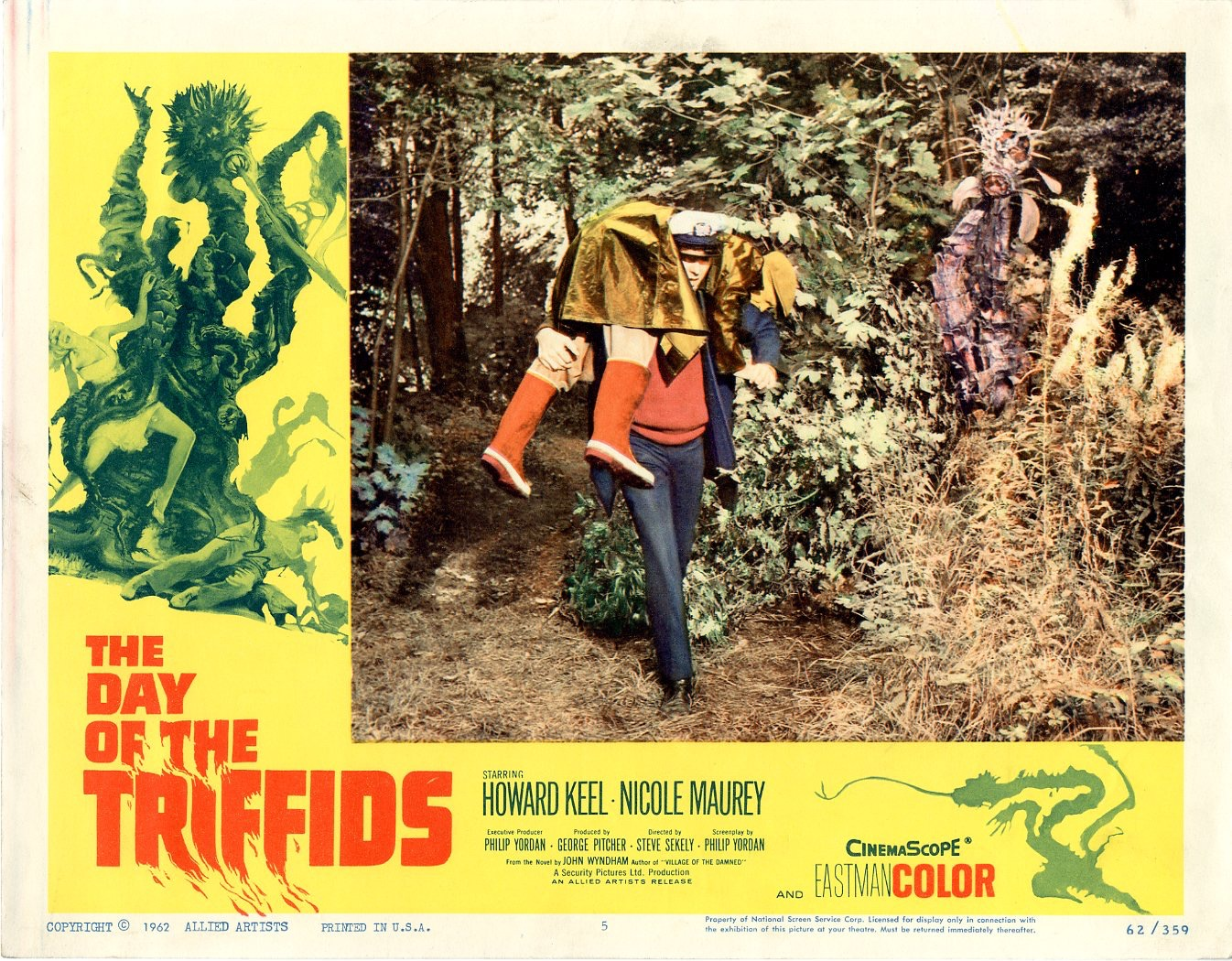 Day Of The Triffids  1962   8 Lobby Card Set - 504