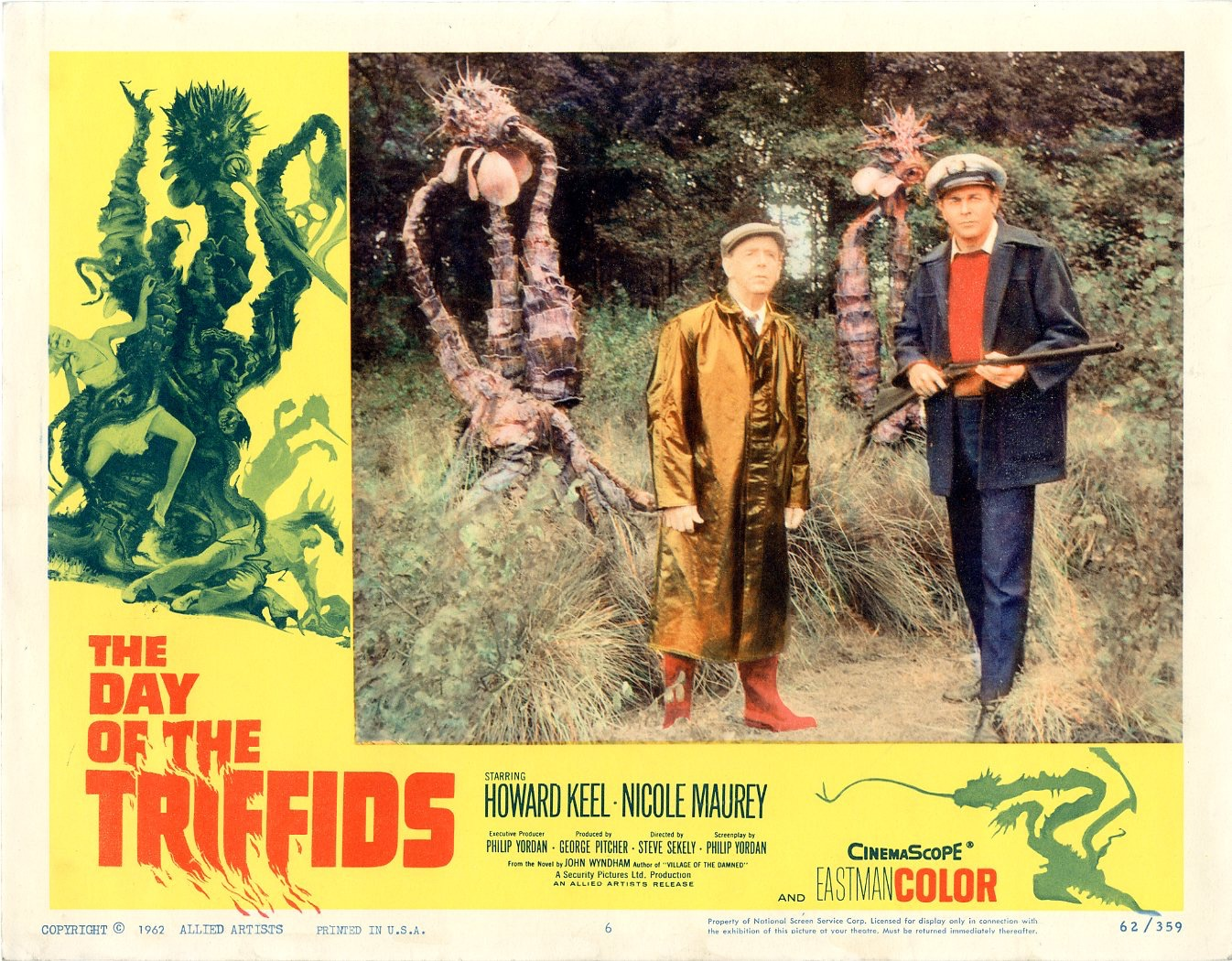 Day Of The Triffids  1962   8 Lobby Card Set - 505