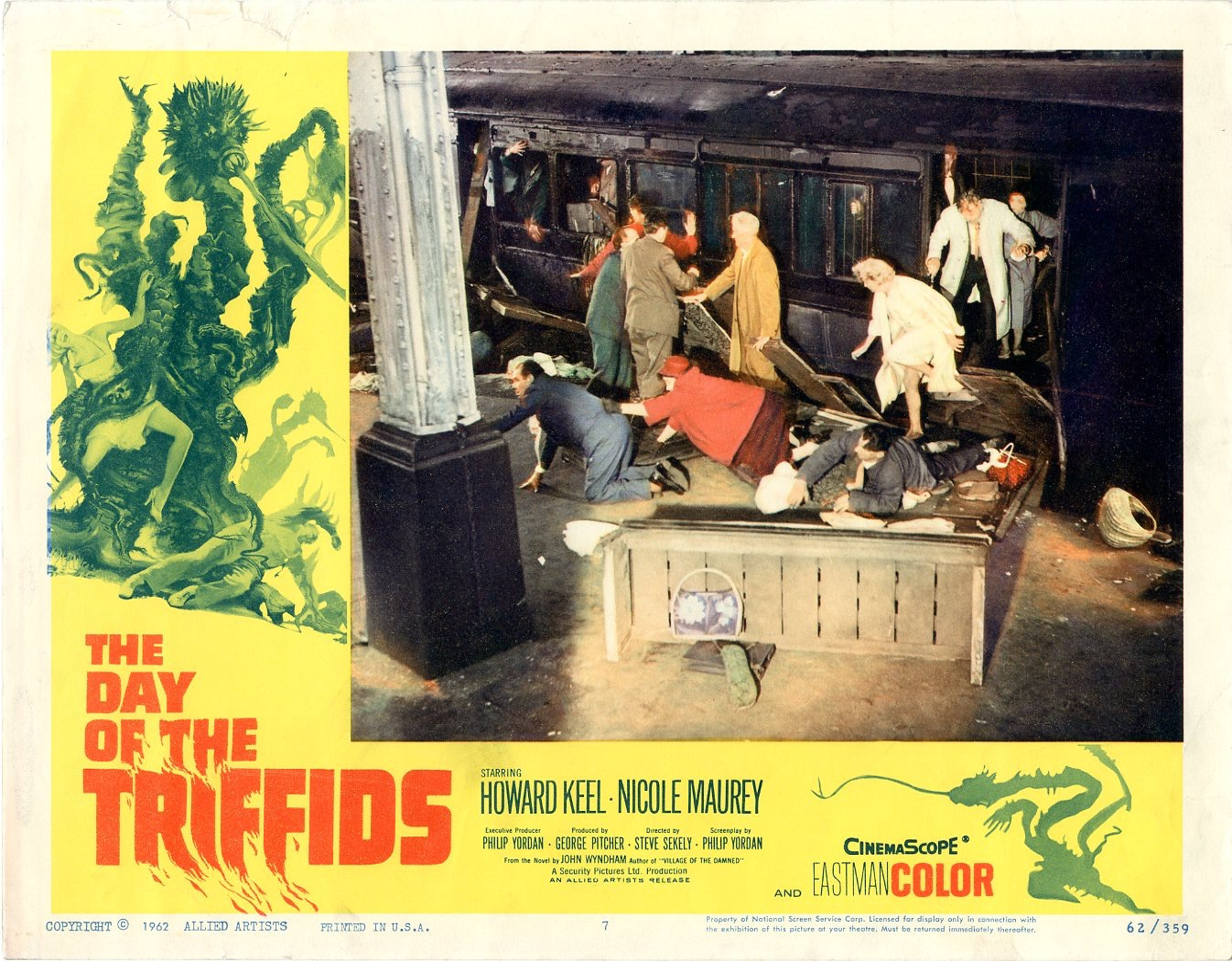 Day Of The Triffids  1962   8 Lobby Card Set - 506
