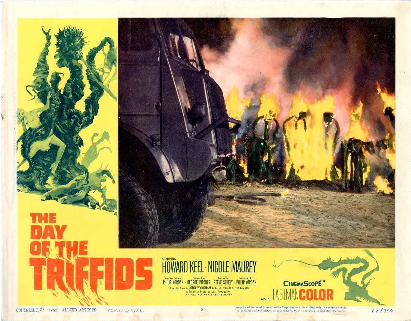 Day Of The Triffids  1962   8 Lobby Card Set - 507