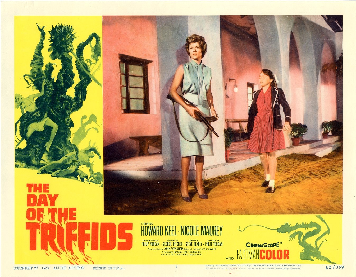 Day Of The Triffids  1962   8 Lobby Card Set - Primary