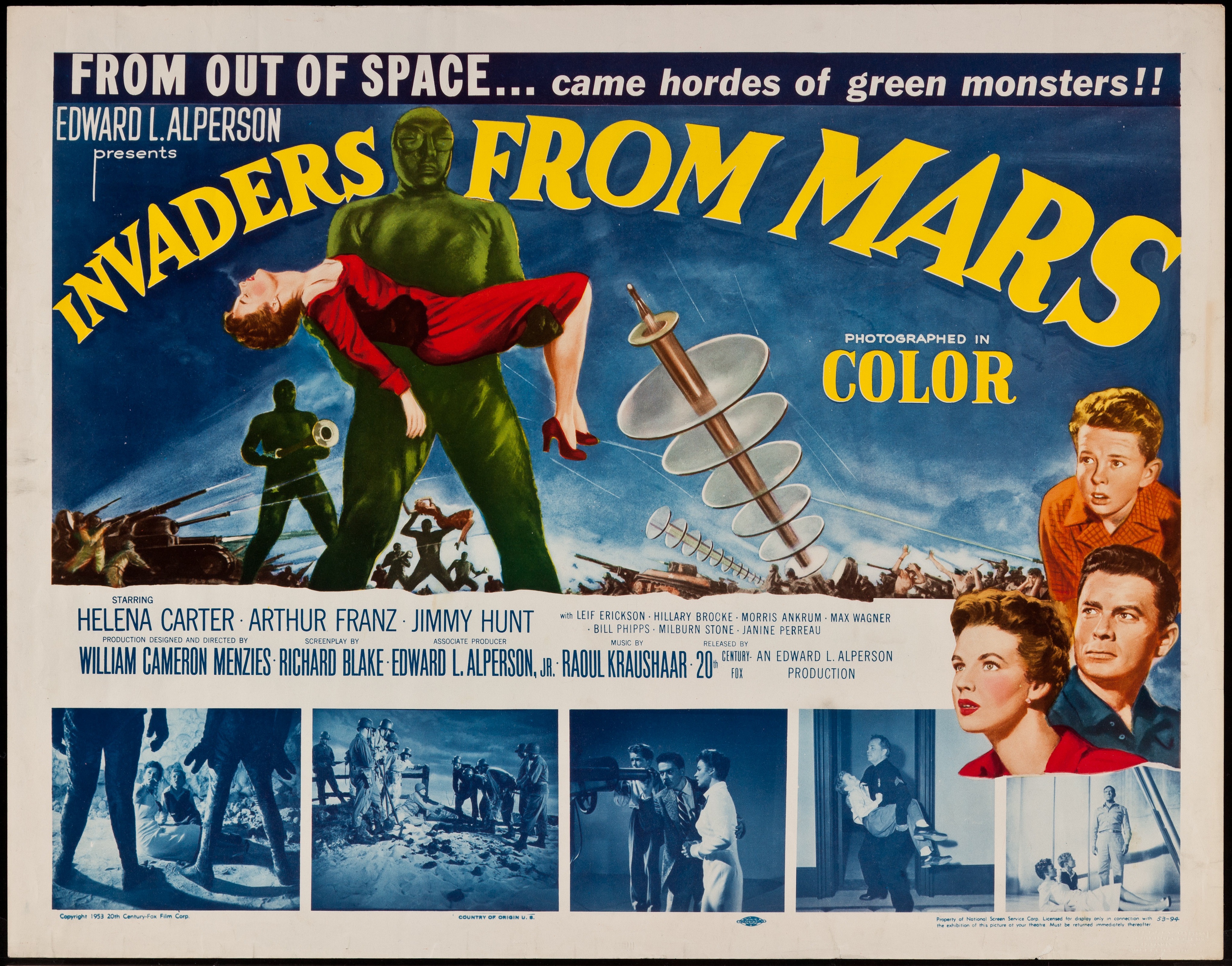 Invaders from Mars 1953 | Posters Details | Four Color Comics