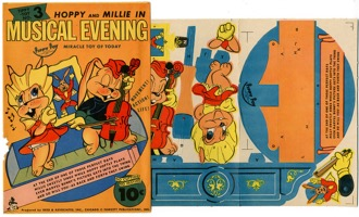 Hoppy And Millie Musical Evening Paper Toy - Primary