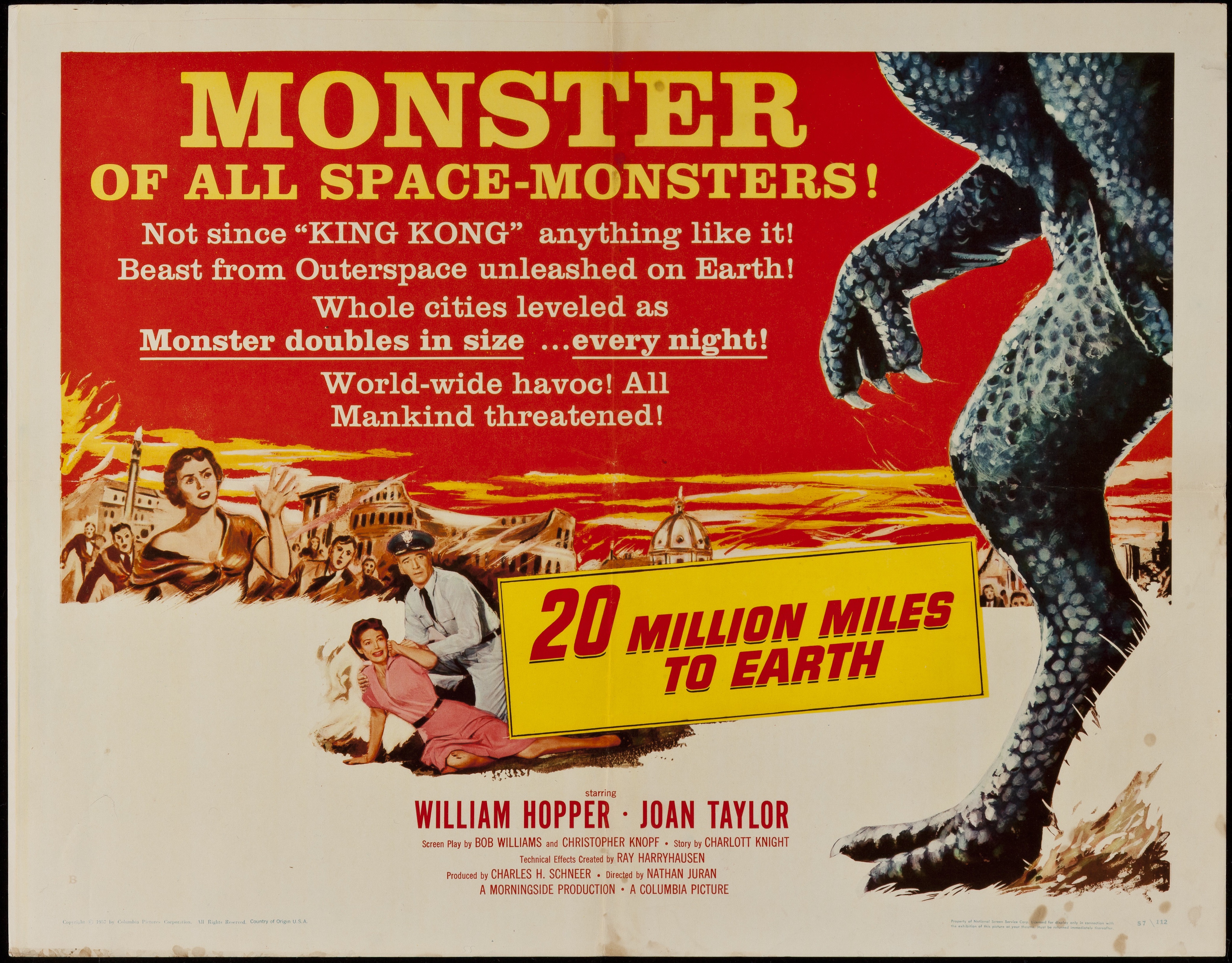 20 Million Miles To Earth 1957 Hs - Primary