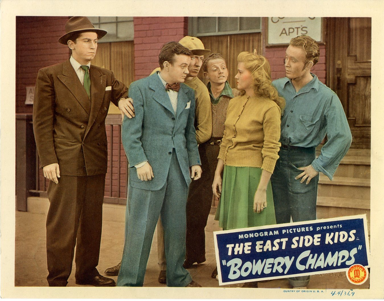 Bowery Champs  1944  8 Lobby Card Set - 140