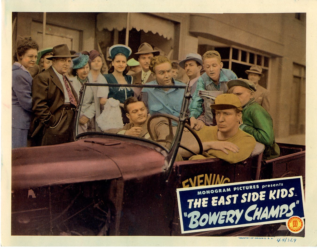 Bowery Champs  1944  8 Lobby Card Set - 141