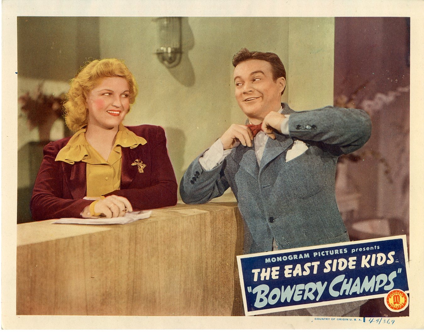 Bowery Champs  1944  8 Lobby Card Set - 142