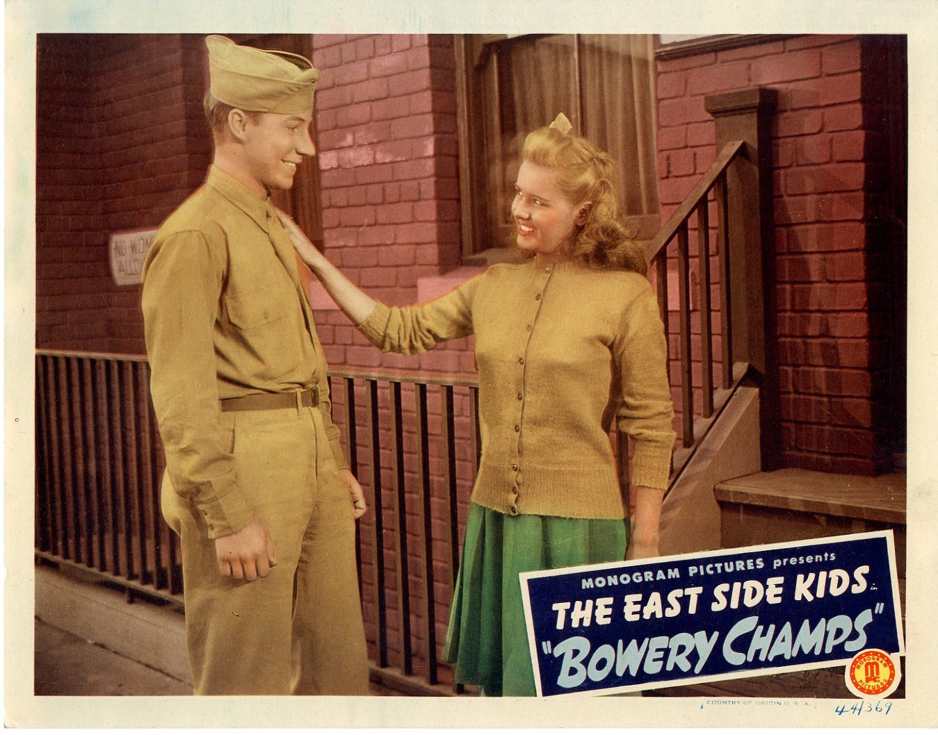Bowery Champs  1944  8 Lobby Card Set - 143