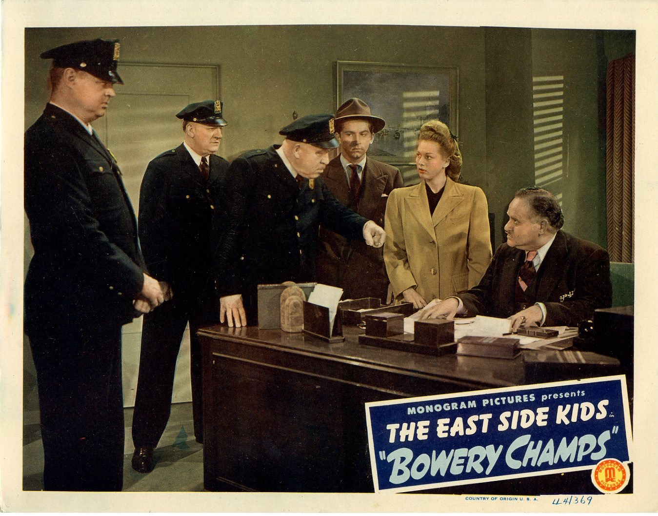 Bowery Champs  1944  8 Lobby Card Set - 144
