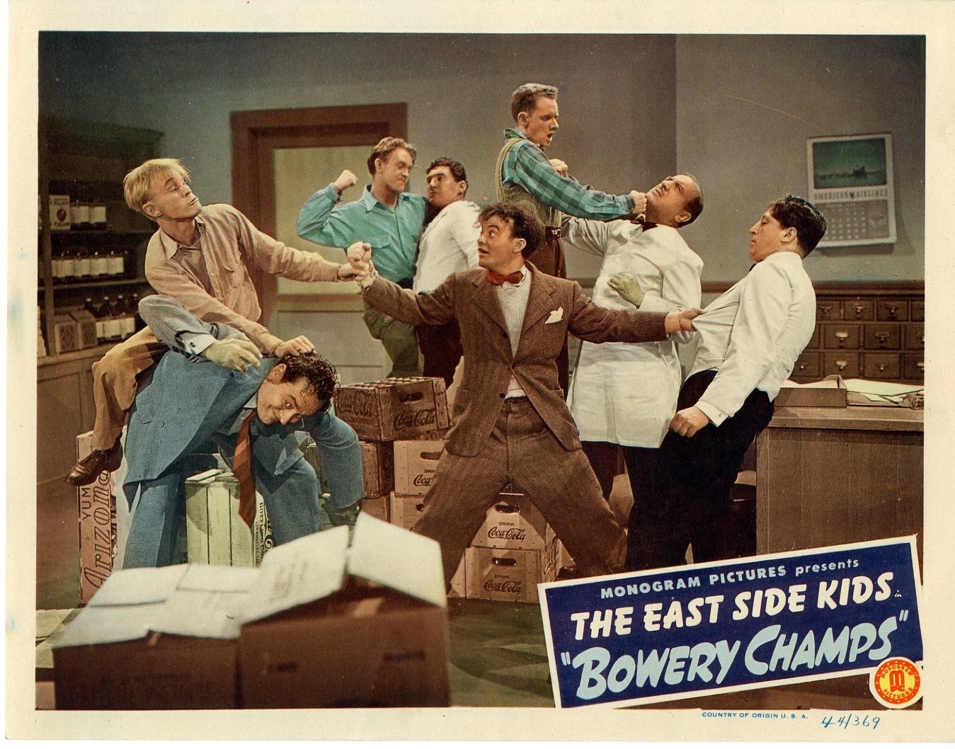 Bowery Champs  1944  8 Lobby Card Set - 145
