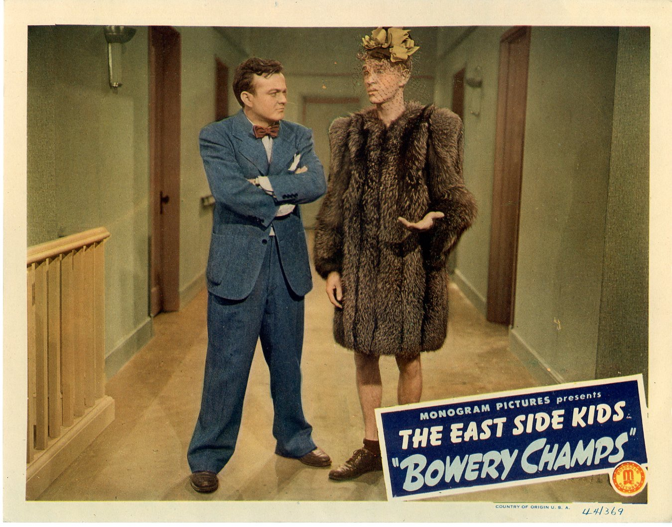 Bowery Champs  1944  8 Lobby Card Set - 146