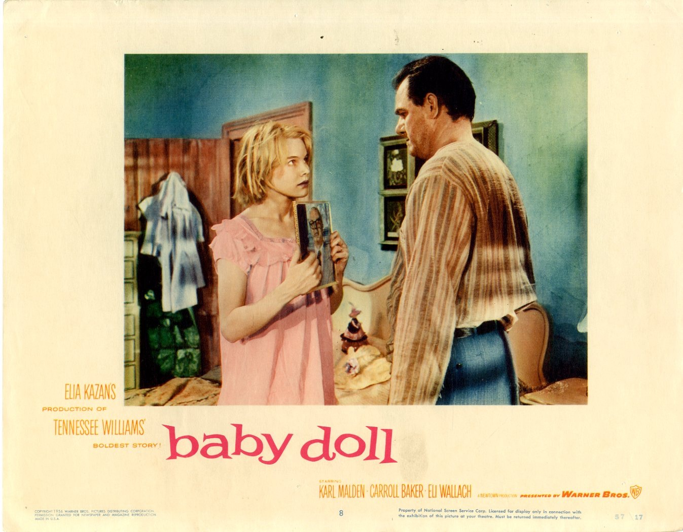 Baby Doll    1957  8 Lobby Card Set - 6806