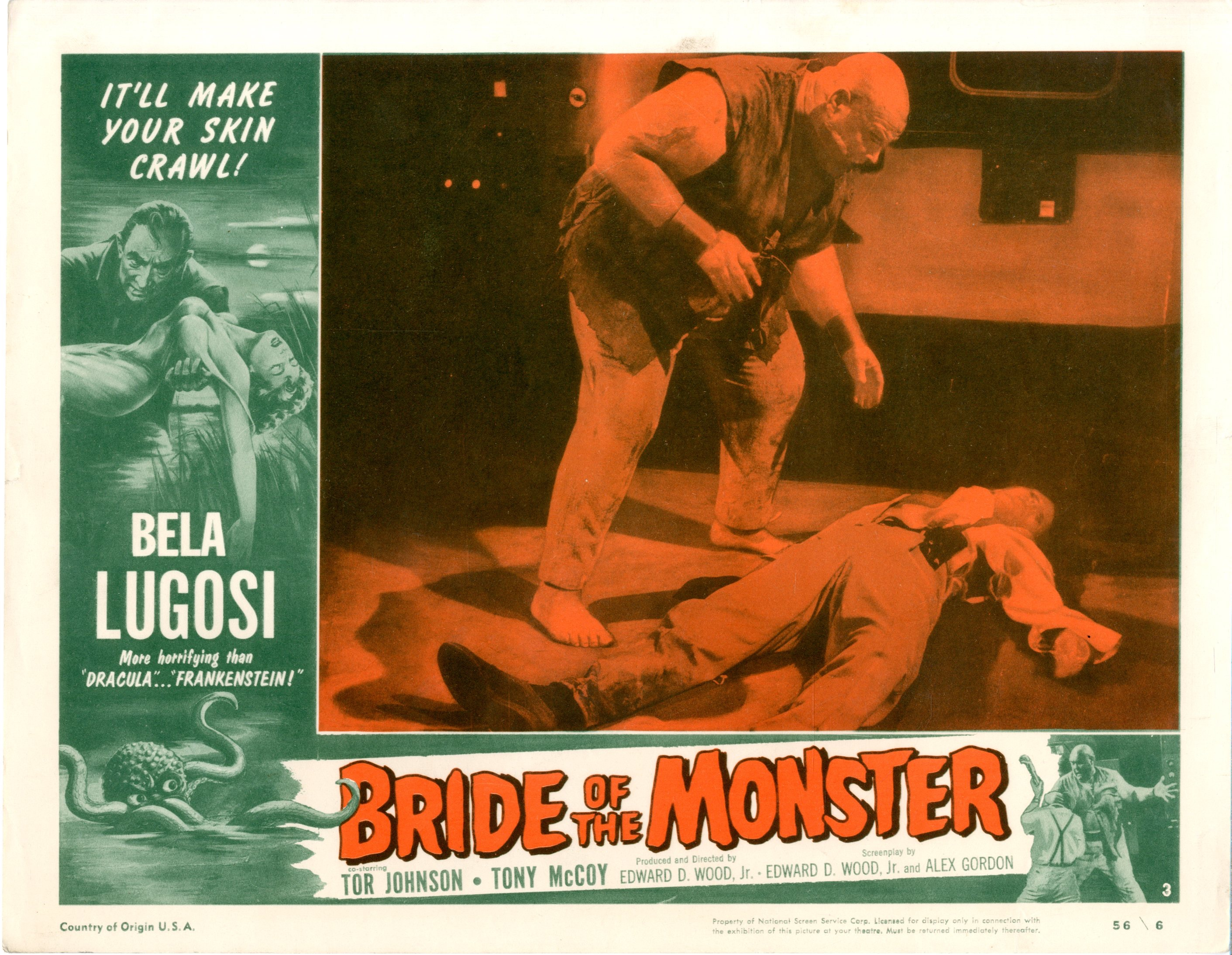 Bride Of The Monster  1956  8 Lobby Card Set - 15515